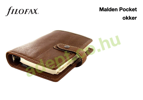 filofax malden pocket okker